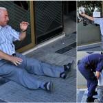 Imaginile DISPERARII din Grecia: pensionari prabusiti in fata bancilor