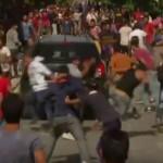 Violenta extrema. Sute de REFUGIATI s-au batut intre ei intr-un orasel din Croatia – VIDEO