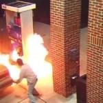 A vrut sa omoare un paianjen cu tigara, insa a ARUNCAT IN AER benzinaria – VIDEO
