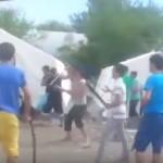 Abia ajunsi in Germania, imigrantii s-au luat la BATAIE intre ei. Tabara devastata – Vezi VIDEO