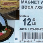 Magnet atins de MORMANTUL lui Arsenie Boca, de vanzare intr-un mare supermarket