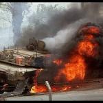 Razboi fierbinte SUA-Rusia in Siria: Rachete americane lovesc tancuri RUSESTI – VIDEO