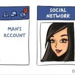 E CLAR cine sta mai mult pe Facebook. Vezi si alte 11 DIFERENTE haioase intre femei si barbati