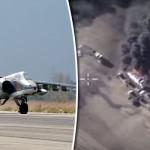 RUSIA loveste din nou: ZECI de cisterne cu petrol ISIS, PULVERIZATE la granita cu Turcia – VIDEO