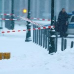 a-police-car-is-parked-behind-suspicious-yellow-postal-crates-near-the-chancellery-in-berlin