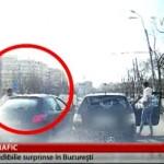 In trafic, tine portiera INCHISA tot timpul. Iata ce a patit un sofer in Bucuresti – VIDEO