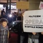 """Protest in Bucuresti fata de situatia din SPITALE: """"Boala noastra este bogatia voastra"""" – VIDEO"""