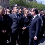 Demnitate. Un politist REFUZA sa stranga mana presedintelui si premierului Frantei – VIDEO