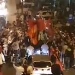 HAOS pe strazile marilor orase din Albania dupa victoria contra Romaniei – VIDEO