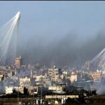 Imagini teribile. RUSII bombardeaza cu FOSFOR alb un oras din Siria – VIDEO