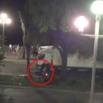 Imagini teribile de la Nisa: EROUL pe motocicleta care a incercat sa stopeze CAMIONUL ucigas – VIDEO