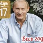 """Putin si-a lansat un calendar pe 2017. Mesaj pe ultima pagina: """"Suntem gata sa folosim ARMELE"""" – VIDEO"""