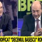 "Basescu, fulminant la Realitatea TV. I-a pus la punct pe toti cei aflati in studio: ""Esti un tradator, bai, Costin Georgescu!"""
