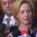 """""""Blonda lui Dragnea"""", pazita cu bodyguard de intrebarile jurnalistilor. De ce se teme noul ministru de Interne"""