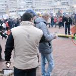 Pesedistii si-au filmat mitingul de la Pitesti cu drona, fara griji. Niciun politist nu i-a luat pe sus sa le faca dosar penal – Video
