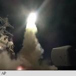 SUA au atacat Siria la ordinul lui Trump: Zeci de rachete au lovit o baza aeriana unde erau si soldati rusi (Foto & Video)