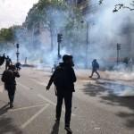 Proteste violente de Ziua Muncii. Fortele de ordine intervin cu gaze lacrimogene