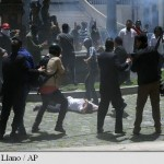 Parlament luat cu asalt de protestatari: A iesit o incaierare generala, mai multi deputati au fost raniti