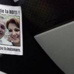 """""""Atentie la hoti. Atentie la buzunare"""". Afise cu poza lui Dragnea si a Olgutei Vasilescu au aparut in Bucuresti. Unde au fost lipite"""