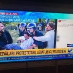 "Antena 3 atinge o noua culme a abjectiei. Protestatarii din Piata Victoriei sunt prezentati ca ""violenti"" cu imagini dintr-o sceneta cu actori amatori"