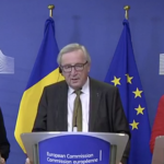 """Presedintele Comisiei Europene a ras de situatia politica generata in Romania de Dragnea, la conferinta cu Dancila: """"Nu stiu unde pleaca toata lumea"""" – Video"""