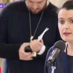 Sorina Matei, scandal la Cotroceni in timpul conferintei de presa a lui Iohannis. Realizatoarea B1 TV si-a pierdut controlul