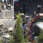 """""""Obiect suspect"""" gasit in furgoneta care a intrat, sambata, intr-un grup de oameni in orasul Munster. Anuntul politiei"""