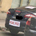 Efect de bumerang al abuzului PSD-ist. Creste numarul celor care isi afiseaza mesaje anti-PSD pe masini