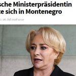 """Dancila, de rasul Europei. Presa din Austria prezinta numeroasele gafe penibile ale premierului roman: """"S-a facut de ras in Muntenegru"""""""