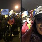 Valiza din Teleorman. Imagini cu amazoana clanului Dragnea-TelDrum, selfie-uri cu Mircea Badea la protestele anti-Iohannis