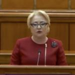 """Dancila, discurs hotesc la motiune, s-a dezis de Dragnea si de PSD in privinta justitiei: """"Guvernul nu este implicat"""""""