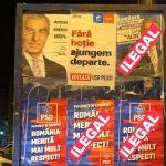 Nu exista legi pentru Dragnea si Tariceanu. PSD si ALDE au acaparat toate panourile de afisaj electoral