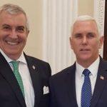 ALDE a platit 50.000 de dolari pentru ca Tariceanu sa se pozeze cu vicepresedintele SUA si cu alti oficiali americani