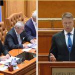 "Iohannis, discurs fabulos in Parlament. I-a bagat pe Dragnea si Tariceanu sub banci: ""Aceasta guvernare esuata reprezinta un risc pentru tara"""