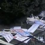 Iesenii si-au recucerit Piata Unirii. In urma pesedistilor a ramas o mizerie de nedescris – Video