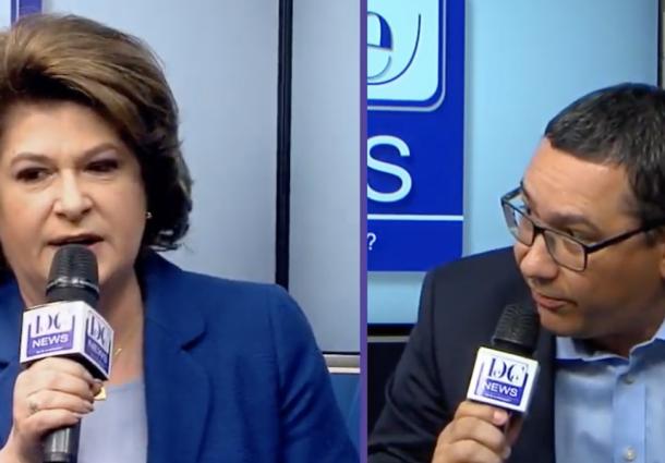 da175ee264 Rafuiala intre Victor Ponta si Rovana Plumb in cadrul unei dezbateri  electorale oraganizate de site-ul DC News