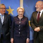 """Dragnea musca din zabrele. Dancila ranjeste fericita la Bruxelles, atacand """"reformele controversate"""" din justitie"""