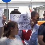Cazul Caracal. PSD a trimis manifestanti in fata Cotroceniului, mesaje obscene la adresa presedintelui – Video