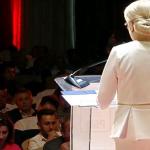 Atmosfera mortuara la Congresul PSD. Priviti chipurile delegatilor din sala in timpul discursului lui Dancila – Video