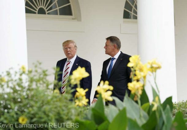 u-s-president-donald-trump-greets-romanias-president-klaus-iohannis-as-he-arrives-for-meetings-at-the-white-house-in-washington